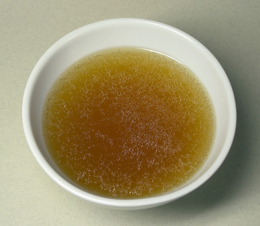 bowl of clear soup broth