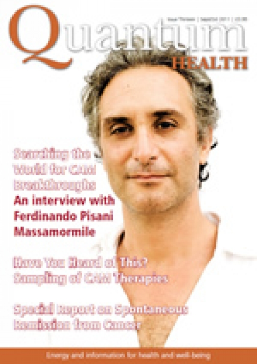 Ferdinando Pisani Massamormile on cover of Quantum Health magazine